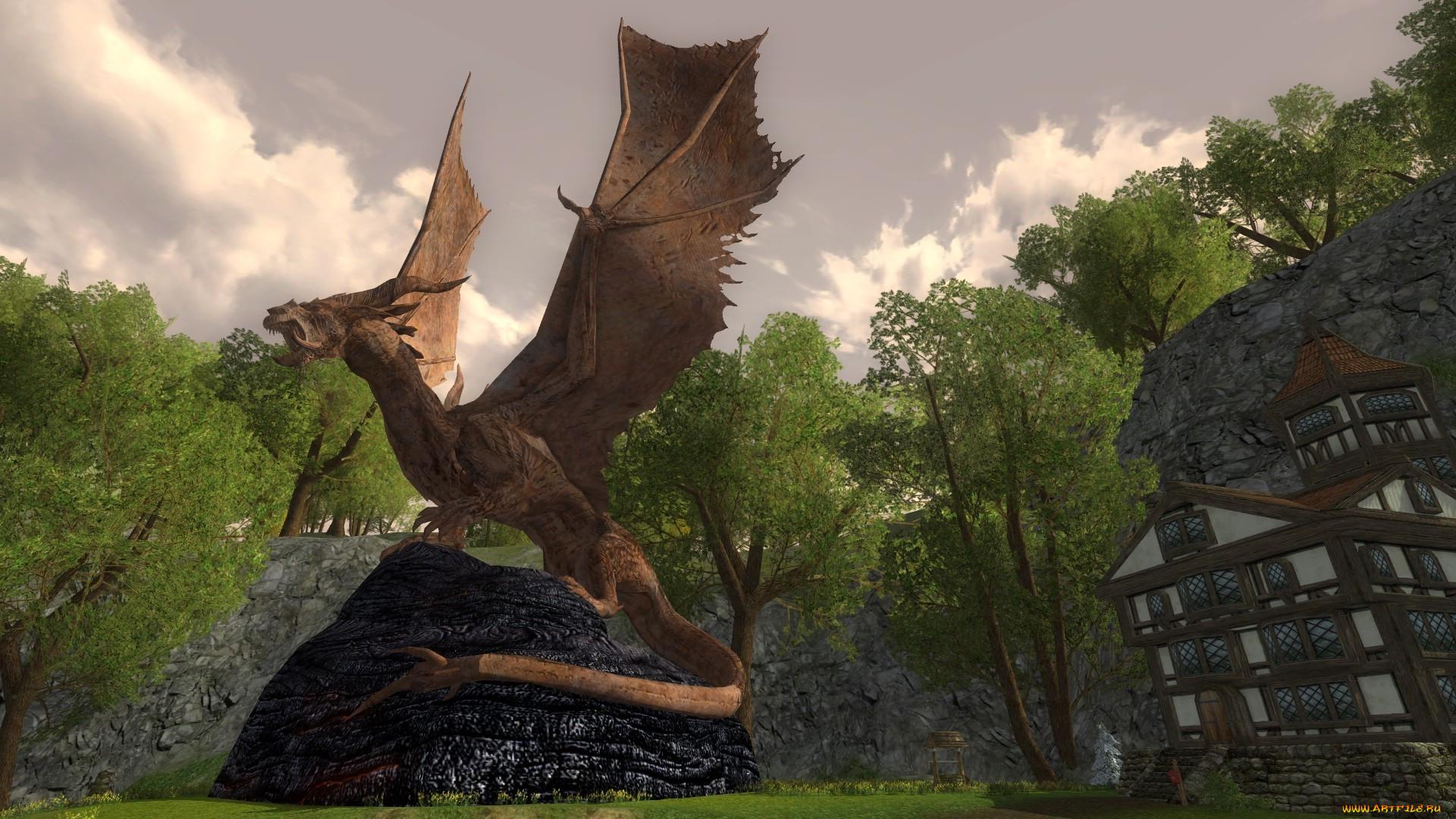 при картинки дракона из властелина колец правой